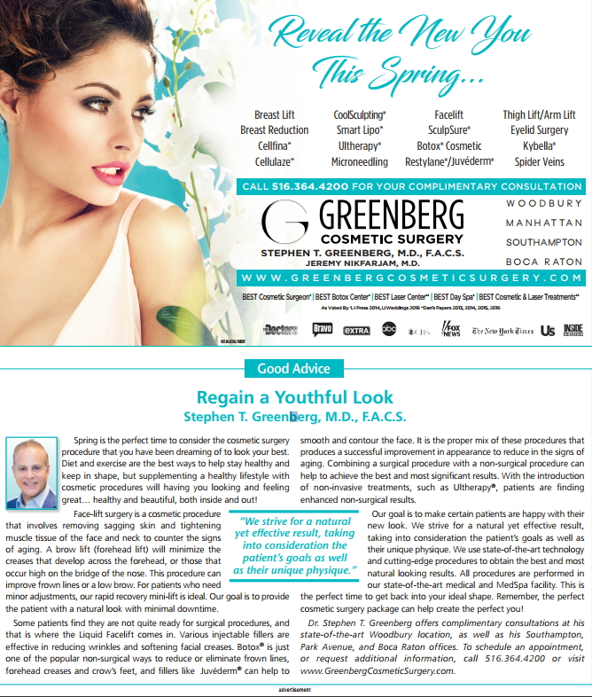 Celebrity Plastic surgeon In The Press - Dr  Stephen Greenberg - New