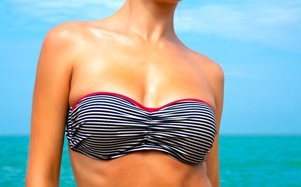 Bikini Chest portion of womans body